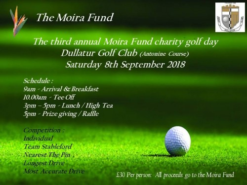 The Moira Fund Golf Day 2018