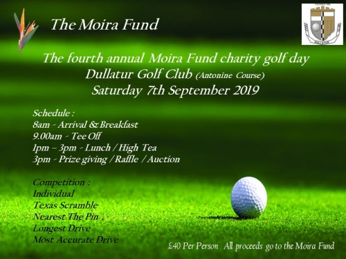 The forth annual Moira Fund charity golf day
