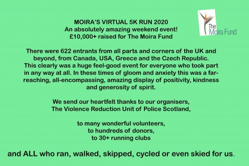 MOIRA'S VIRTUAL 5K RUN 2020